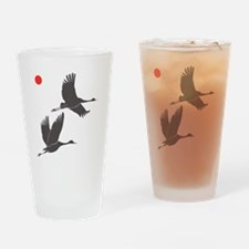 Soaring Cranes Drinking Glass
