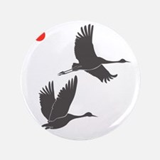 "Soaring Cranes 3.5"" Button"
