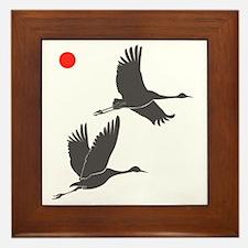 Soaring Cranes Framed Tile
