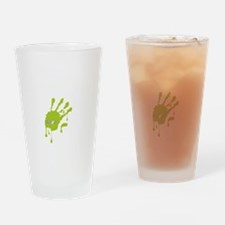 Zombie_Wuz_Here_Green Drinking Glass