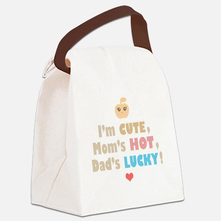infant_1_pink bg Canvas Lunch Bag