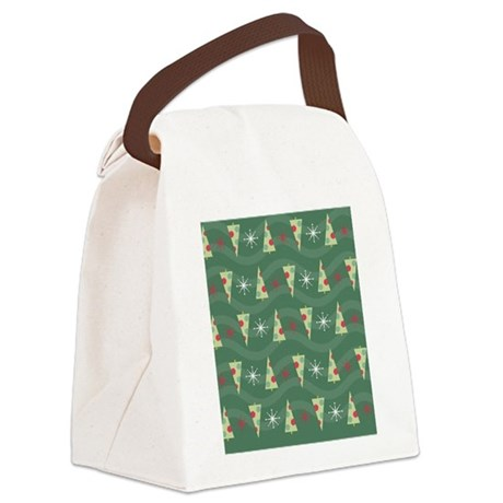 Christmas Tree Flip Flops Canvas Lunch Bag