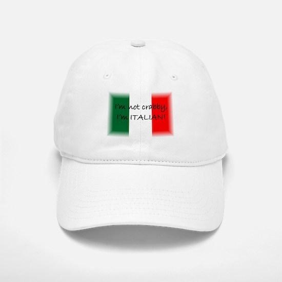 Crabby Italian Baseball Baseball Cap