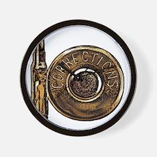 Corrections Bullet Wall Clock