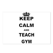 KEEP CALM AND TEACH GYM Postcards (Package of 8)