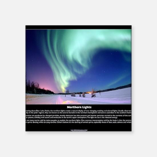 "Northern_Lights_full Square Sticker 3"" x 3"""