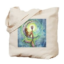 mermaid moon square Tote Bag