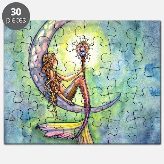 mermaid moon square Puzzle