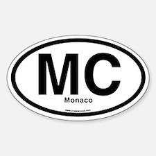Mc - Monaco Sticker (Oval) Sticker (Oval)