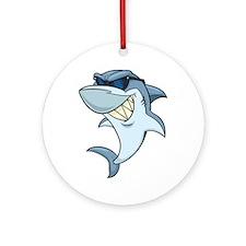 SharkBites_Shark-Full Color Round Ornament