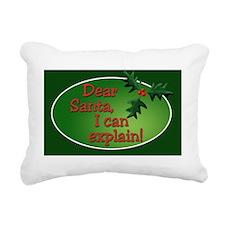 Dear Santa Rectangle Rectangular Canvas Pillow