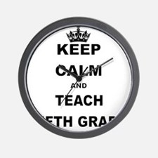 KEEP CALM AND TEACH FIFTH GRADE Wall Clock