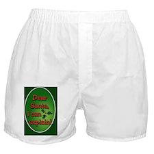 Dear Santa Oval Ornament Boxer Shorts