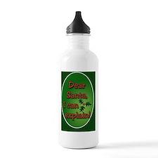 Dear Santa Oval Orname Water Bottle