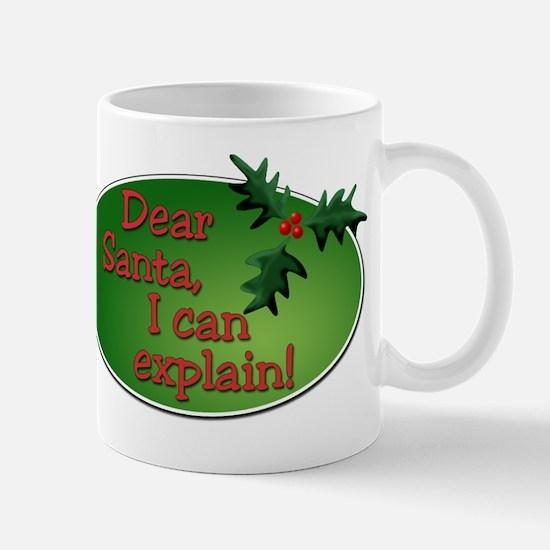 Dear Santa Square Mug