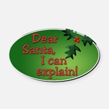 Dear Santa Square Oval Car Magnet