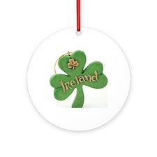 Irish Christmas Round Ornament