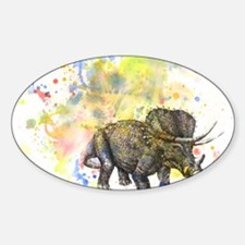 Triceratops Dino in Splash of Color Decal