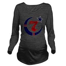 moorscience_clear Long Sleeve Maternity T-Shirt