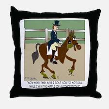 8191_horse_cartoon Throw Pillow