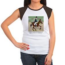 8191_horse_cartoon Women's Cap Sleeve T-Shirt