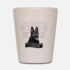 back state police design Shot Glass
