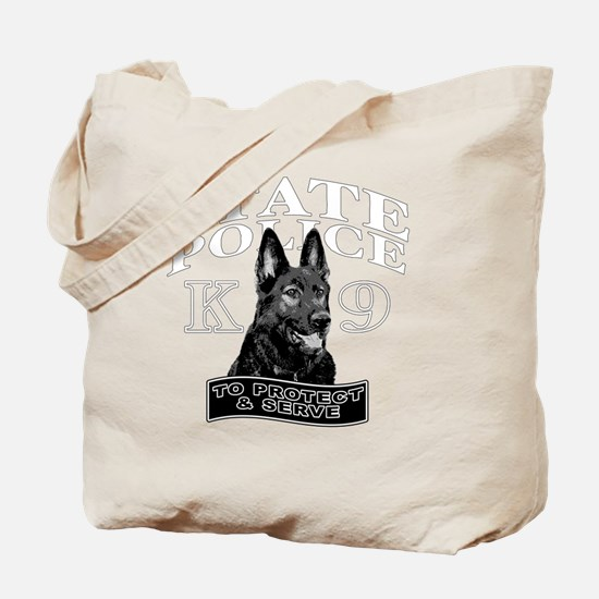 back state police design Tote Bag