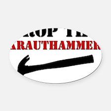 Hammer wt Oval Car Magnet