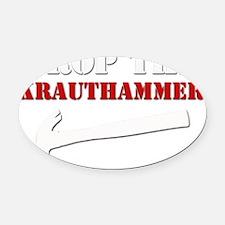 Hammer blk Oval Car Magnet