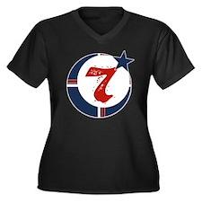 moorscience_ Women's Plus Size Dark V-Neck T-Shirt