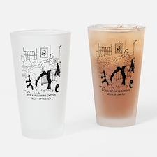 7091_bike_cartoon Drinking Glass