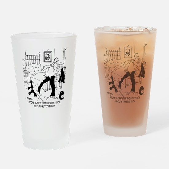 7091_bike_cartoon Drinking Glass