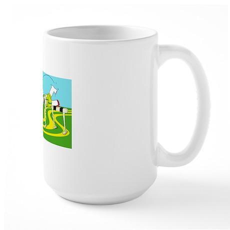 Funny Hurdle cafe press card Large Mug