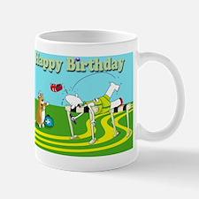 Funny hurdle happy birthday cafe press  Mug