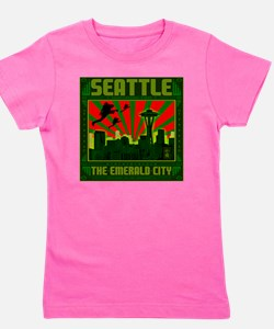 Seattle_The_Emerald_City_pillow Girl's Tee