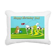 Funny hurdle birthday da Rectangular Canvas Pillow