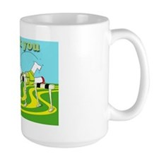 Funny hurdle thank you cafe press card Mug