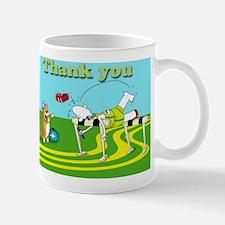 Funny hurdle thank you cafe press card Mug