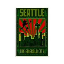 Seattle_The_Emerald_City_23x35_pr Rectangle Magnet