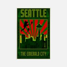 Seattle_The_Emerald_City_23x35_pr Rectangle Magnet