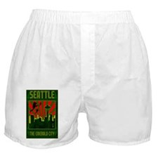 Seattle_The_Emerald_City_23x35_print Boxer Shorts