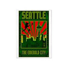 Seattle_The_Emerald_City_23x35_prin 5'x7'Area Rug