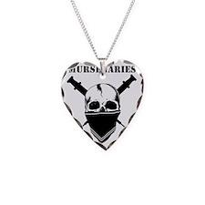BlackFillWhiteStripe Necklace