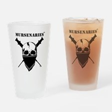 BlackFillWhiteStripe Drinking Glass