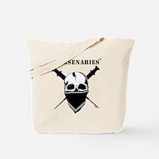 BlackFillWhiteStripe Tote Bag