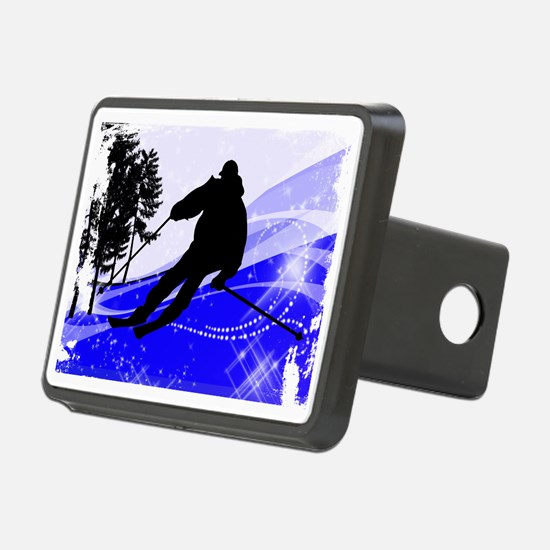 Downhill on the Ski Slope  Hitch Cover