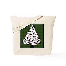 Holiday Skull Tree Tote Bag