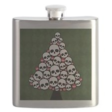 Holiday Skull Tree Flask