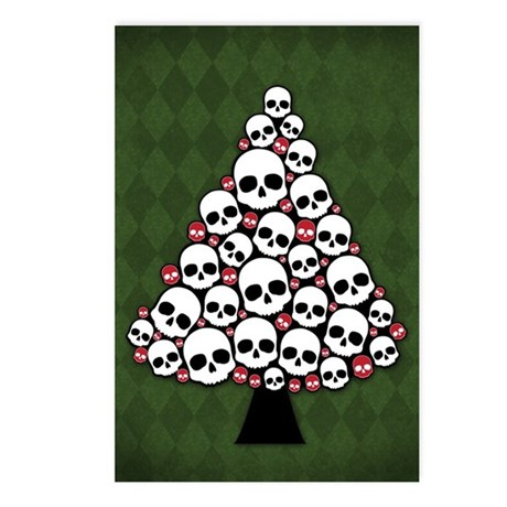 Holiday Skull Tree Postcards (Package of 8)