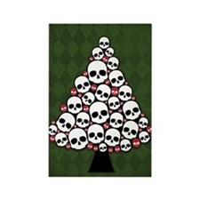 Holiday Skull Tree Rectangle Magnet